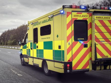 2 Apr 20_Ambulance on empty road