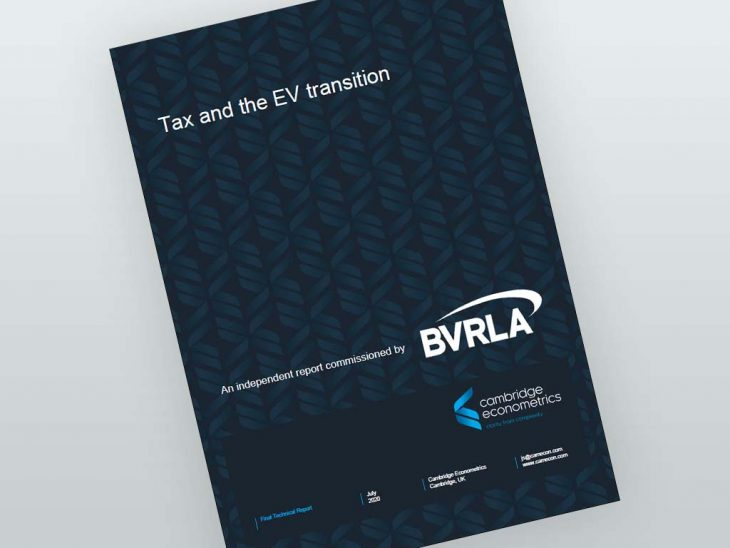 The BVRLA has also published new independent tax modelling from Cambridge Econometrics